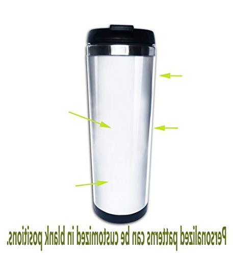 Stainless Steel Travel Mug,Spill Lid Keeps 8.45 ml)Customizable printing byNatural Cave Reed
