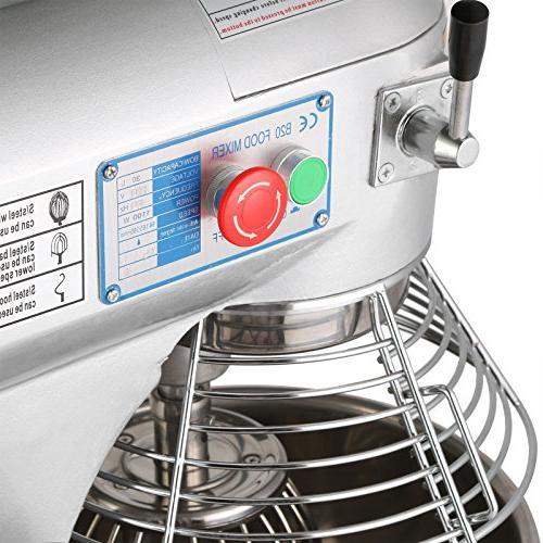 FoodKing Food Mixer Quart Electric 3 Attachments Grade