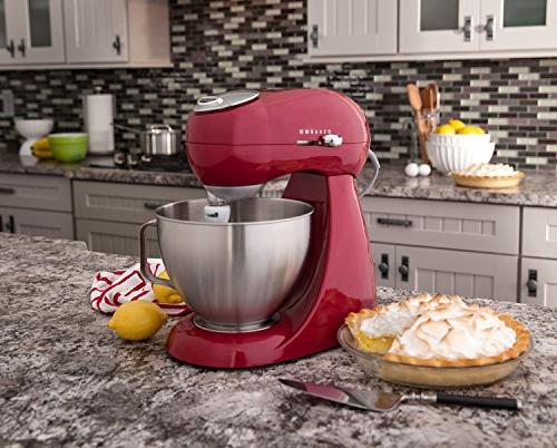 Hamilton Beach Eclectrics Stand Mixer, Carmine Red, ea