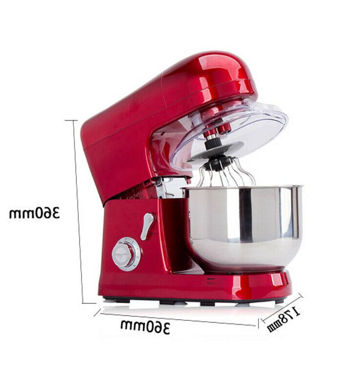 Electric 6-speed 5L Metallic Red Stand Kitchen equipment FDA