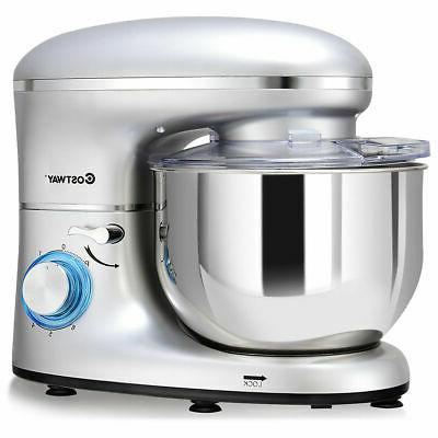 6.3 Qt Stainless Steel Food Stand Mixer Machin Kitchen 660W