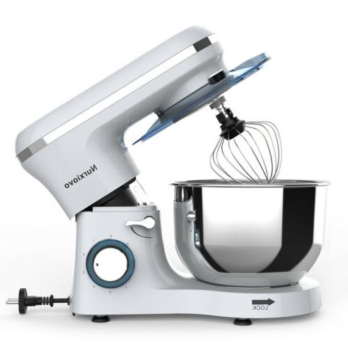 Food Stand Mixer 6 Electric Speed 6QT 850W Tilt-Head Stainle