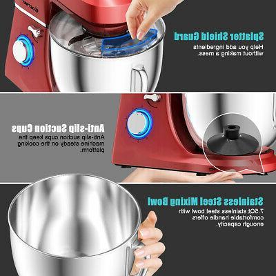 Countertop Stand Mixer Qt 3 Attachments Tilt-Head Mixing Red