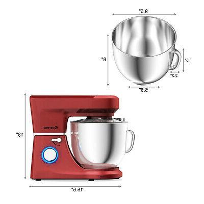 Countertop Stand Mixer Qt 6 Speed 3 Tilt-Head Red