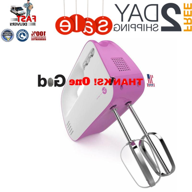 electric hand mixer 3 speed with built