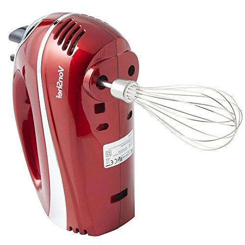Vonshef Electric Hand Mixer Whisk With Stainless Steel
