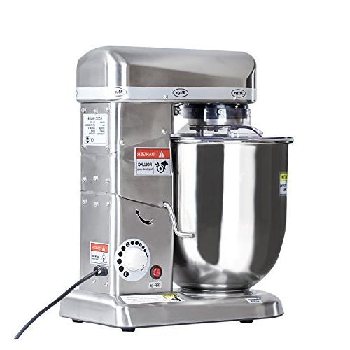 Professional 10 Liters Electric Stand Blender Planetary Cooking Mixer, shake Beater, Machine Stainless Steel Made