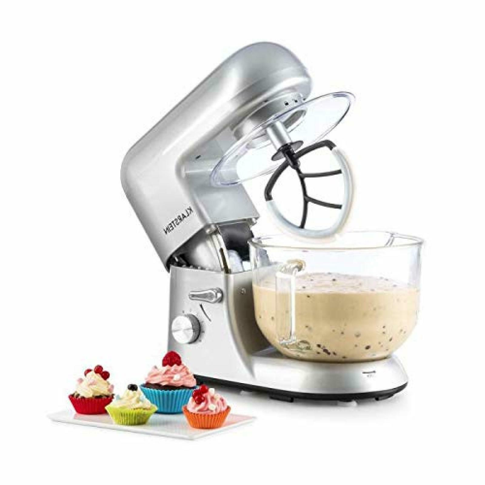 ELECTRIC STAND MIXER 5.5 Qt 650 W 6 Speed Silver Tilt Head C
