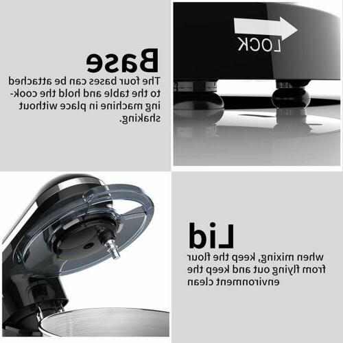 Electric 6 7QT Tilt-Head Stainless Steel Bowl Black