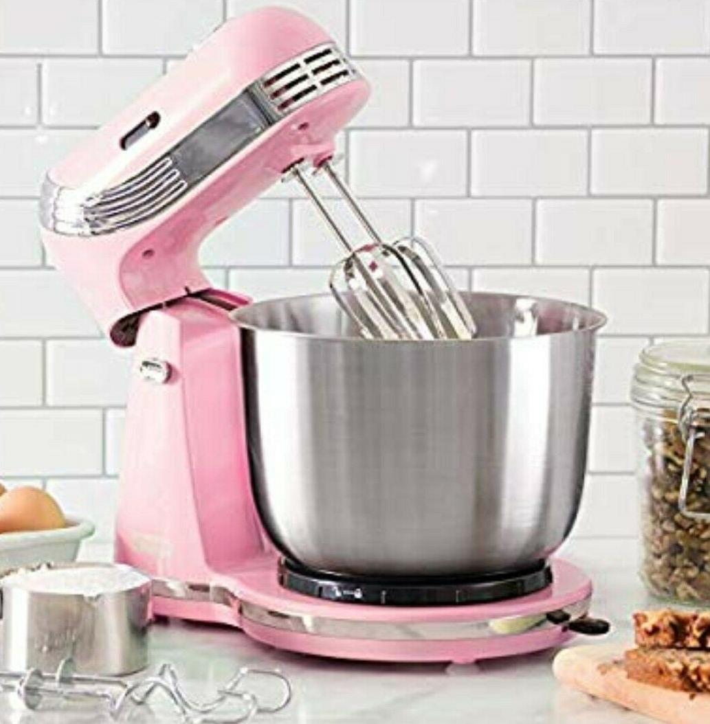 everyday stand mixer 6 speeds pink