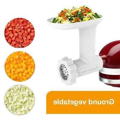 Food Grinder Attachment KitchenAid Stand Mixer Including 2 Blades &