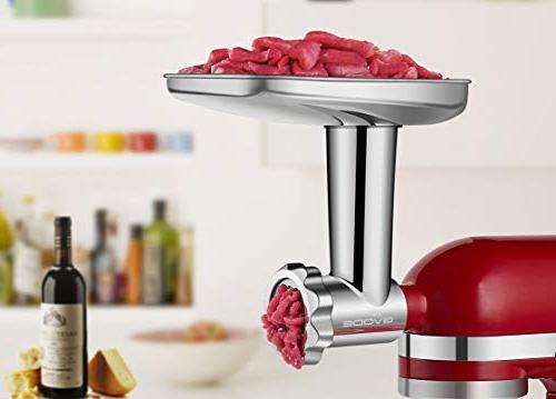 Stainless Steel Food Attachment Mixers Including Stuffer, Dishwasher Safe,Durable Accessories as