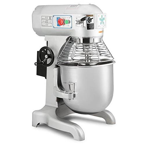 OrangeA Mixer Food Commercial Grade 1HP Dough Mixer 3 Speed Silver Food Processor