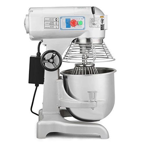 OrangeA Mixer Mixer Electric Commercial 1HP 750W Electric Dough Mixer 3 Speed Silver Food Processor