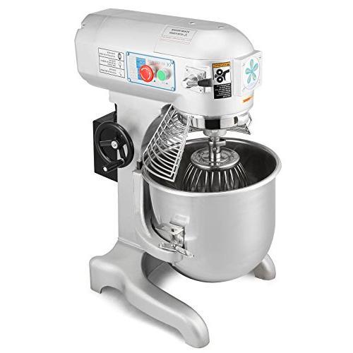 OrangeA Mixer Commercial 20 Quart 1HP Electric Dough Mixer Silver