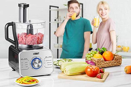 Food Processor Food 6 Functions Attachments, 3 600W Powerful Processor, Silver