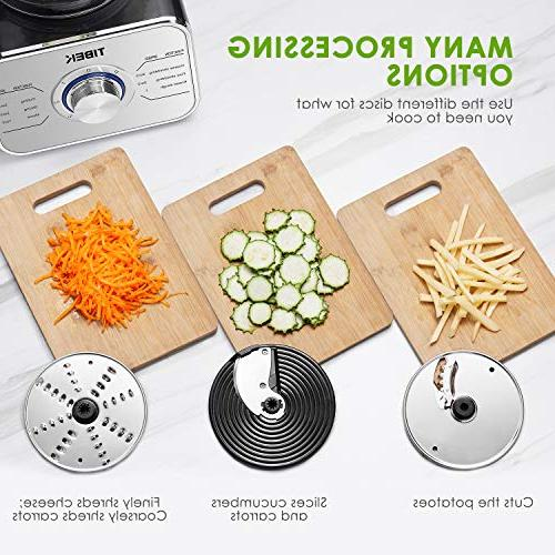Food Processor Food Main Functions Dough Slicing Attachments, 3 Powerful