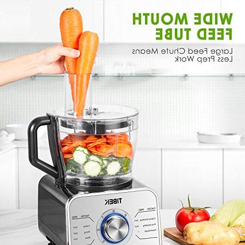 Food Processor Food Processor Functions Blade, Dough Blade, Attachments, Speed 600W Powerful Processor, Silver