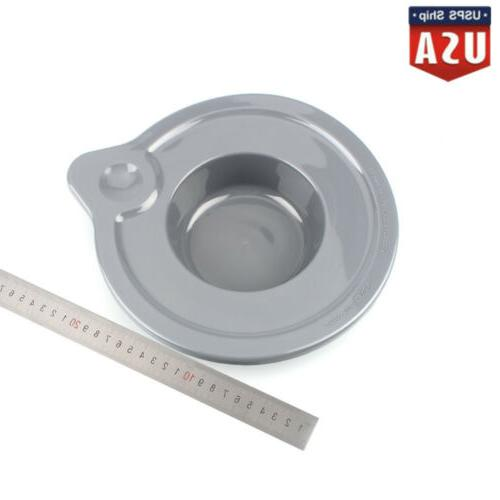Frosted Bowl Lid Cover glass tilt head stand