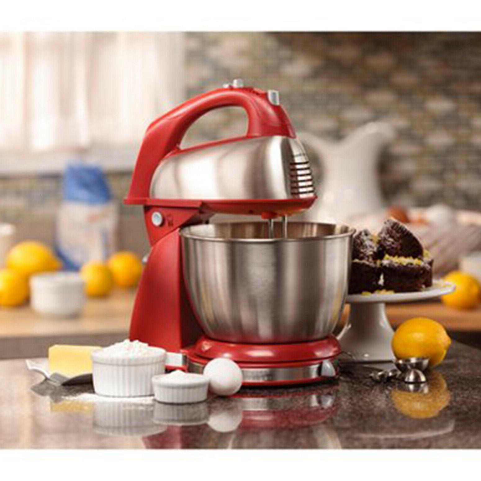 Hand Stand Mixer 6 Speed 290W 4 Quart Classic Kitchen Cookin