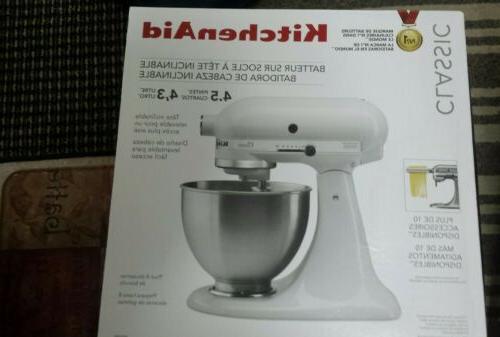 k45sswh stand mixer 4 5 qt white