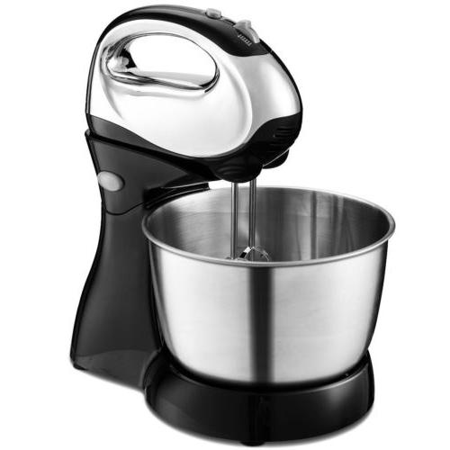 5-Speed Hand/Stand Mixer W/Dough Hooks Beaters Food Small Ki