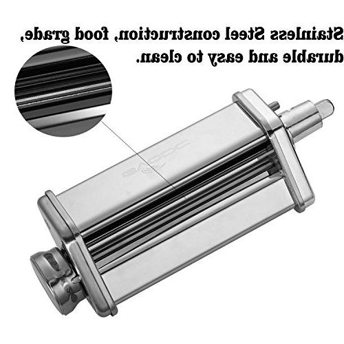 3-Piece Roller Cutter Set KitchenAid Stand Steel,mixer by