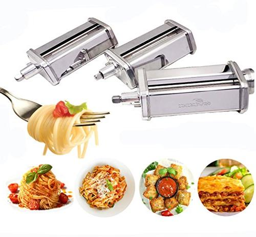 3-Piece Pasta and Cutter KitchenAid Stand Mixers,Stainless by