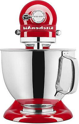 KitchenAid KSM180QHSD Limited Queen Hearts Mixer, Red