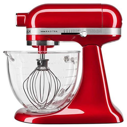 Candy Apple Red KitchenAid KSM3306XCA Artisan Mini Design Series 3.5 Quart Tilt-Head Stand Mixer