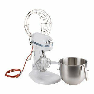 KitchenAid KSMC895WH Commercial Mixer Stainless White