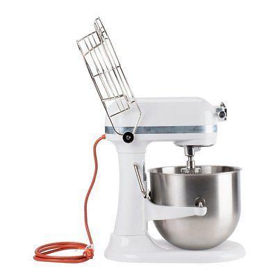 KitchenAid KSMC895WH Stand Mixer Stainless Steel White