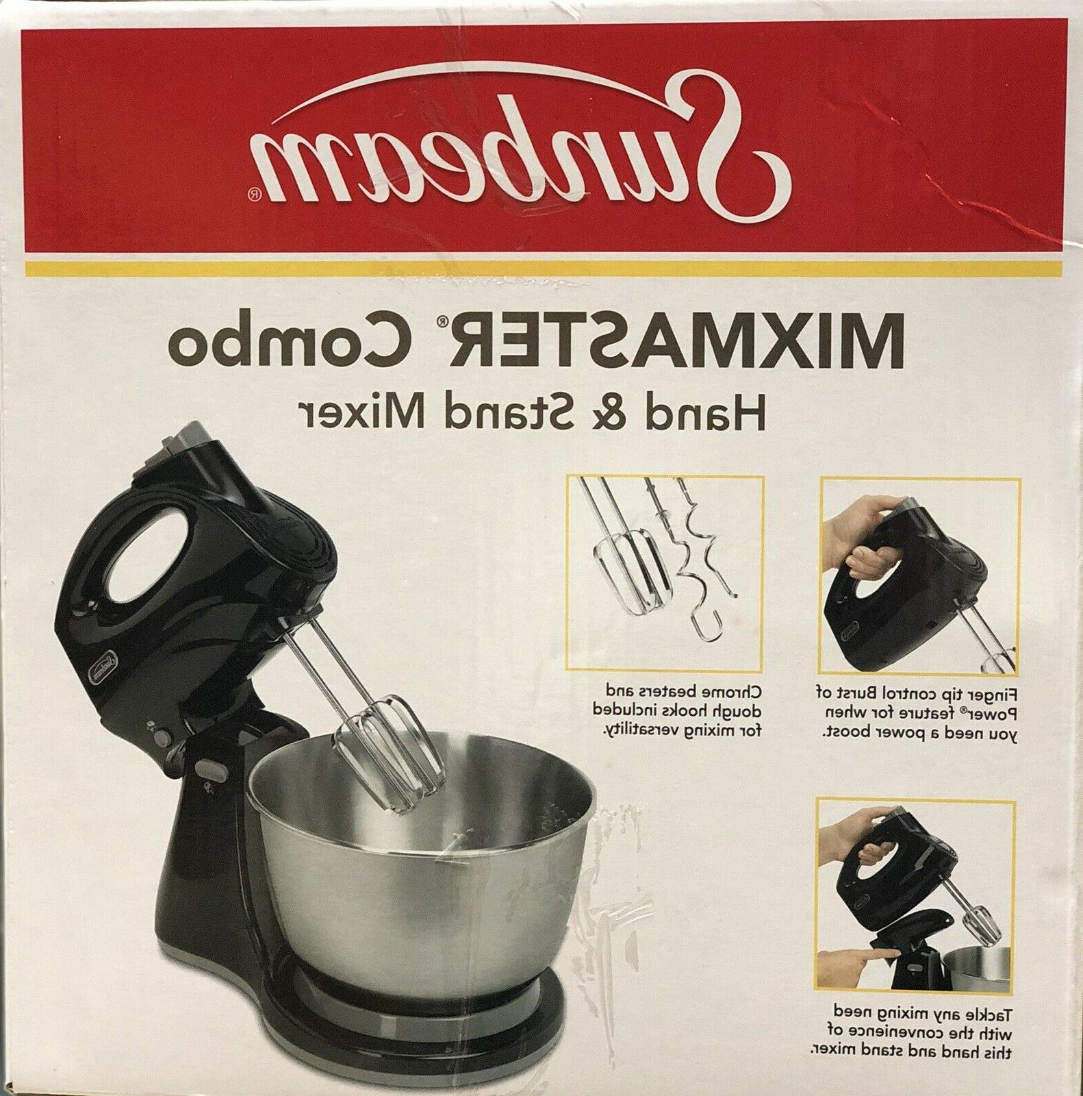 Sunbeam Mixmaster Hand/Stand Mixer, Bowl. White