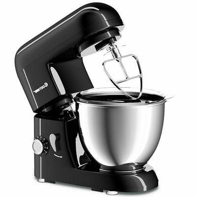 New Electric Mixer 6 Speed 4.3Qt 550W Tilt-Head Bowl