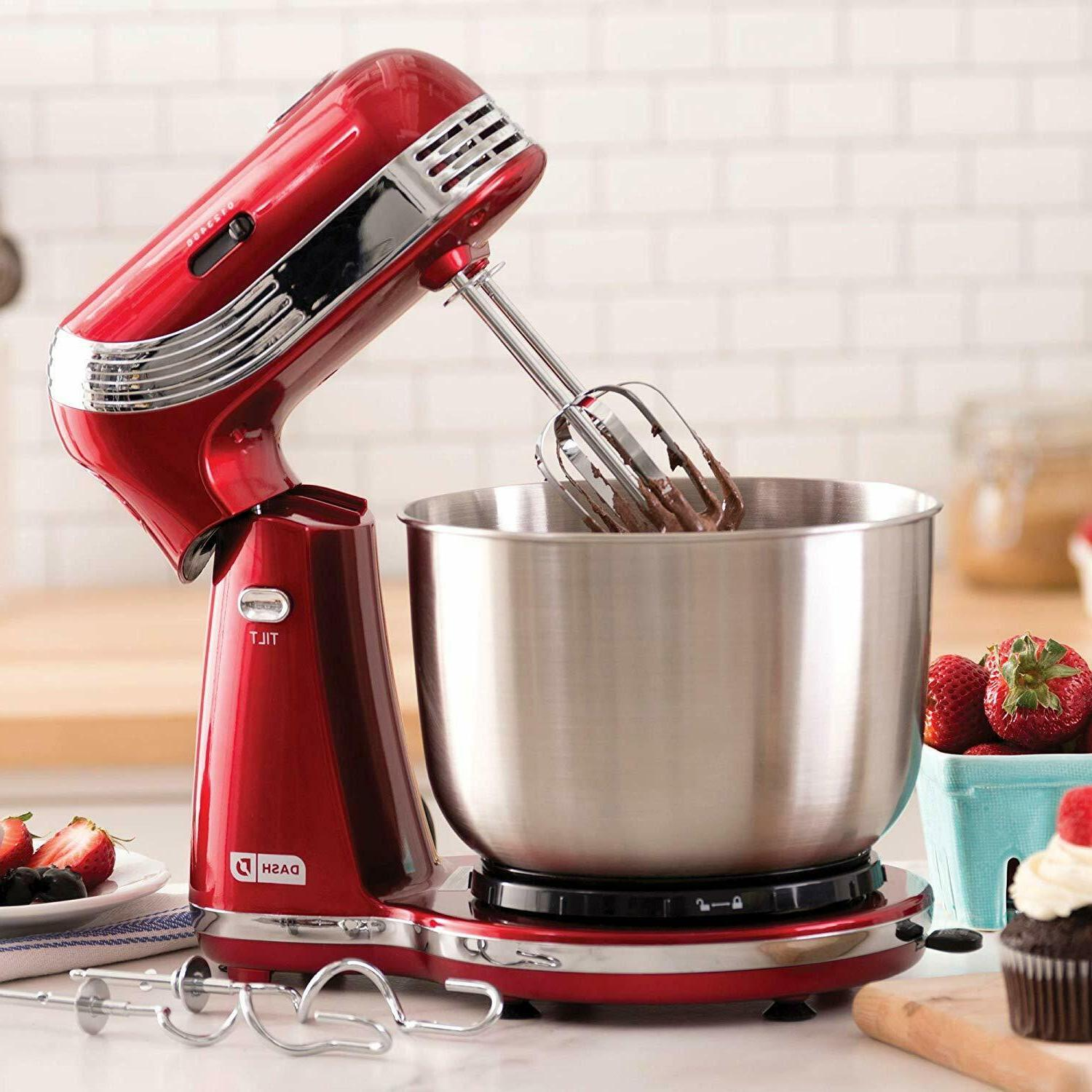 ELECTRIC STAND MIXER 6 SPEED KITCHEN MIX BEATER TILT HEAD ST