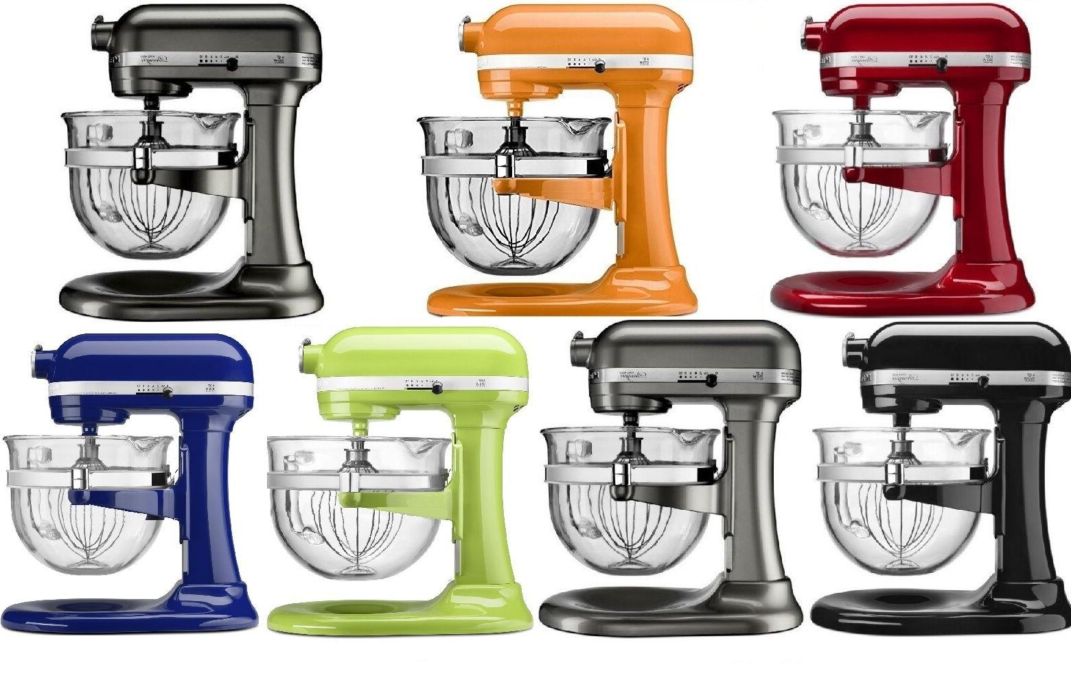 New KitchenAid Mixer With Glass Colors