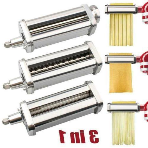 For KitchenAid Pasta Roller Cutter Maker 3-piece Stand Mixer