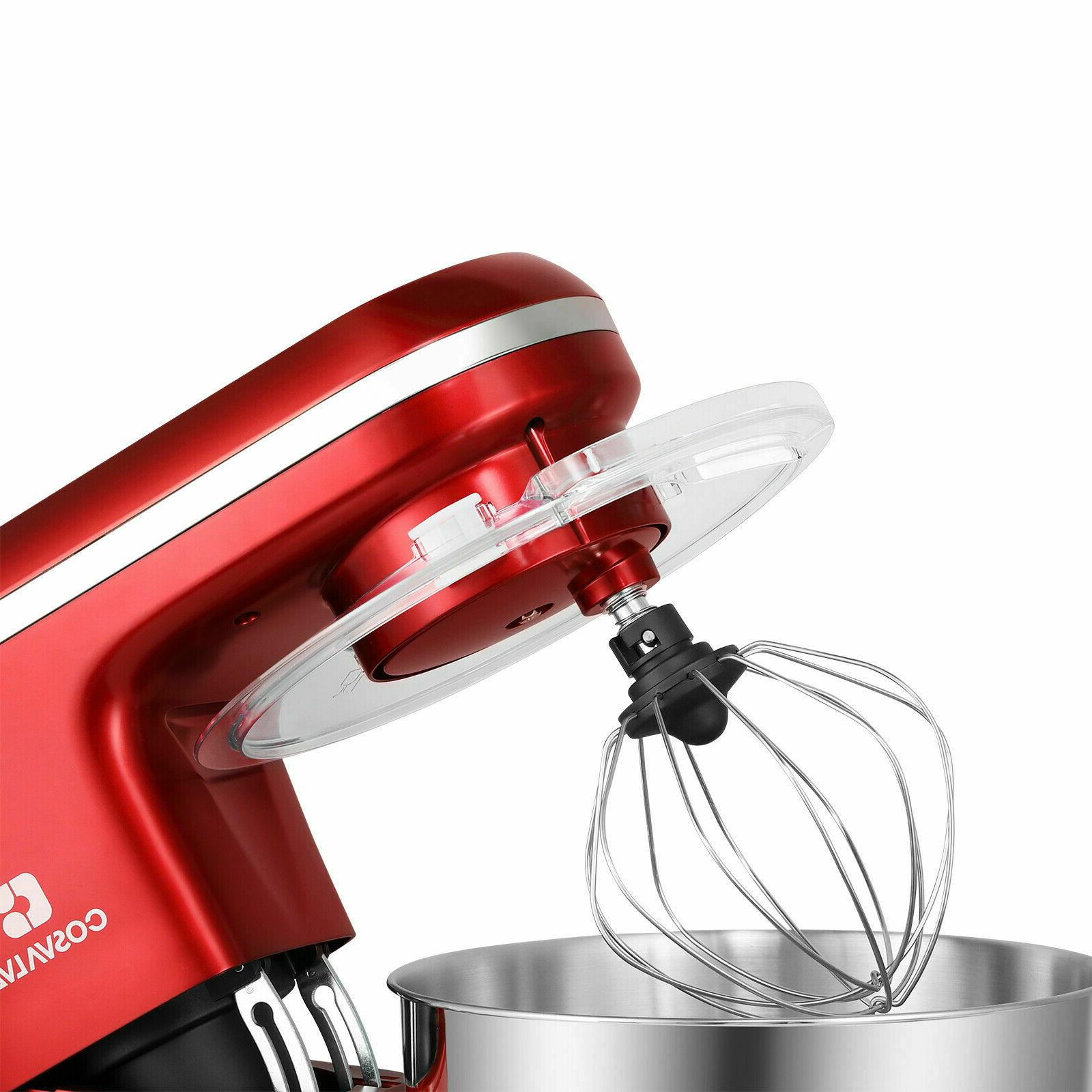 Pro Mixer 6-Speed Kitchen Stainless Bowl Red
