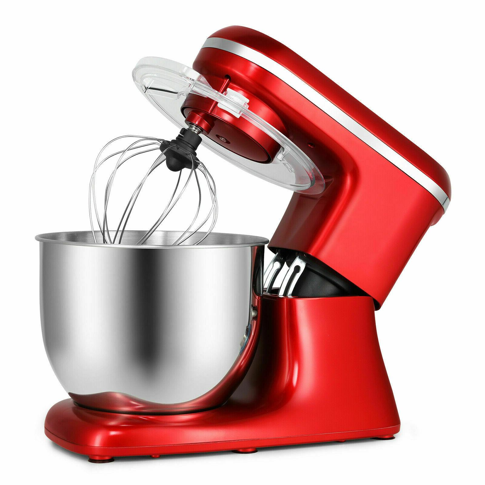 Pro Electric Stand Mixer 7-QT Kitchen Stainless Red