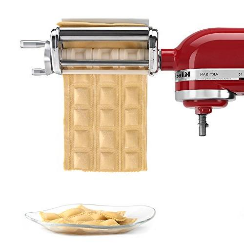 Ravioli Maker for Stand Mixer, Silver, Pastry