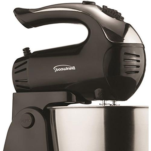 Brentwood Appliances Stand Mixer with Steel Bowl, 8.40In. X