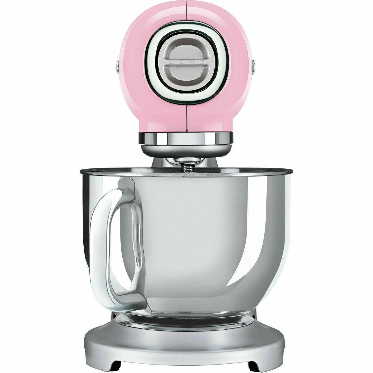 Smeg Pink Retro 50s Stand Mixer 800 Watt 2 Year Guarantee