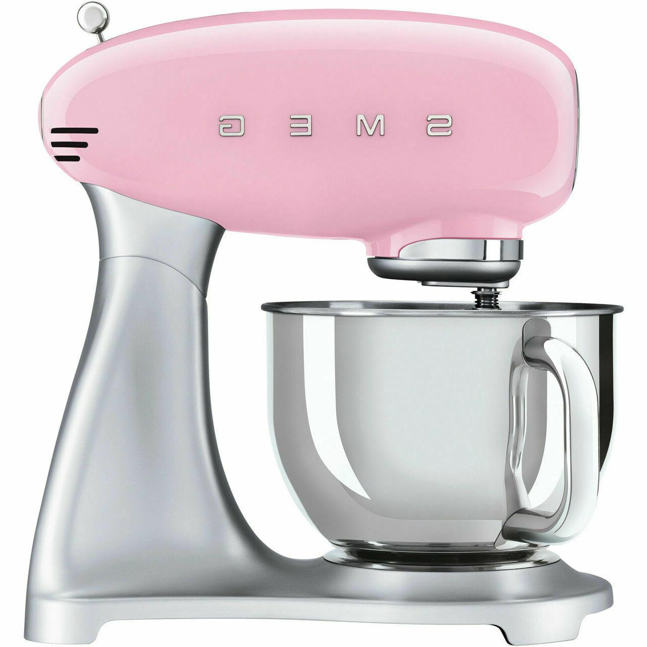 Smeg SMF02PKUK Pink 50s Stand Mixer Watt 2 Year Guarantee