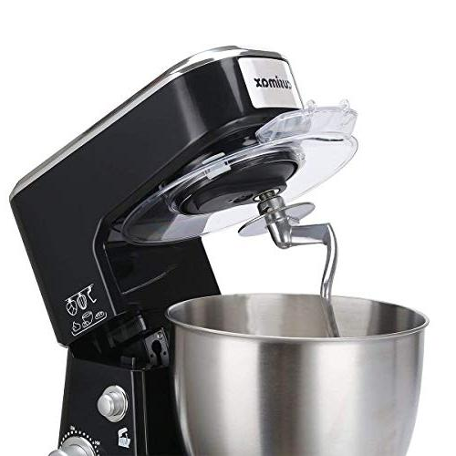 Cusimax Stand Mixer - Tilt-head Electric Food Mixer with Stainless Steel Bowl, Mixing Beater and CMKM-150, Black