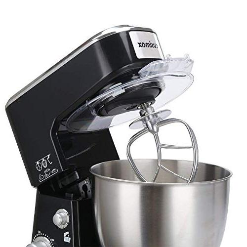 Cusimax Mixer - Food with Stainless Steel Mixing and CMKM-150, Black