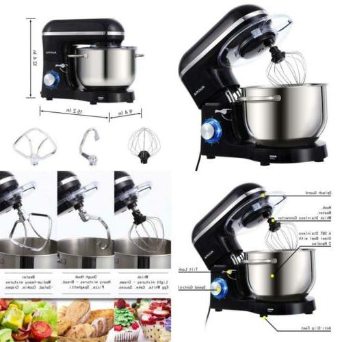 Stand Mixer 6.5-QT 660W 6-Speed Tilt-Head Food Mixer, Kitche