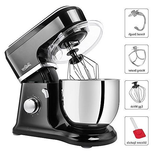 Betitay Tilt-Head Food Mixer,4.5 Dough Machine Mixing Guard,Silicon