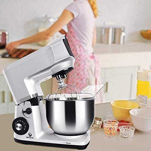 Stand Mixer Electric Mixer Stand 5.5 Steel Bowl,Tilt Head,Pouring Hook,Flat Beater,Whisk Dough Kneading Machine
