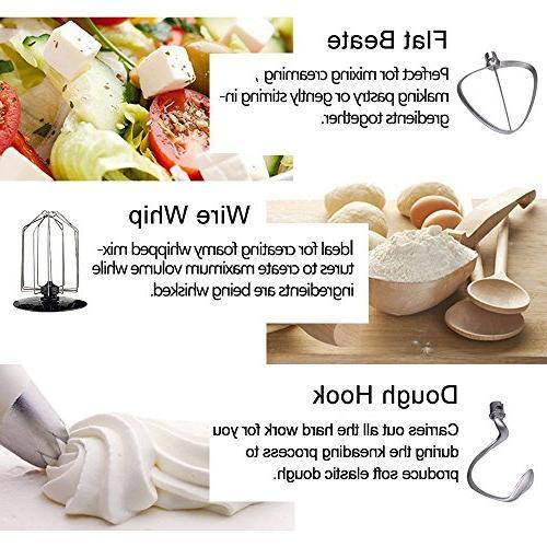 Homeleader Kitchen Mixer, Food Mixer, Speed Control, Whisk, Beater, Splash White