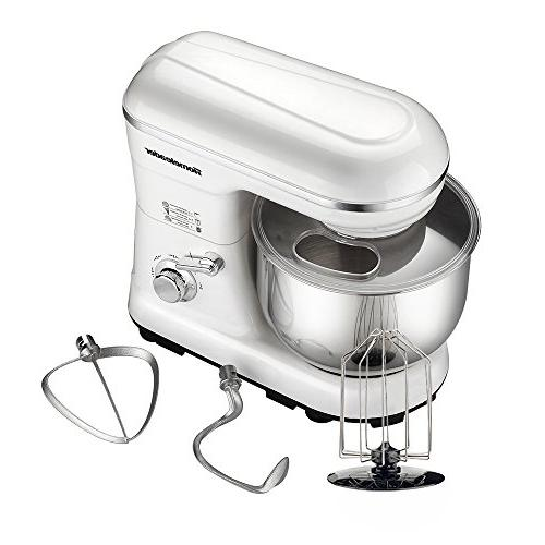 Homeleader Mixer, 5QT Kitchen Food 5 Control, Processor with Whisk, Flat Beater, Splash White